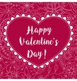 Happy valentine day card on floral pattern vector image vector image
