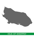 high quality map of island vector image vector image