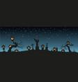 holiday halloween black silhouettes pumpkins vector image vector image