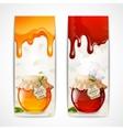Honey banners vertical vector image vector image