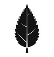 hornbeam leaf icon simple style vector image vector image
