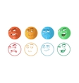 icon set of Feedback emoticons vector image