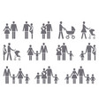 icons of a traditional family with children vector image vector image