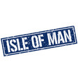 isle of man blue square stamp vector image vector image