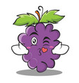 kissing heart grape character cartoon collection vector image vector image