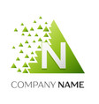 letter n logo symbol in colorful triangle vector image vector image