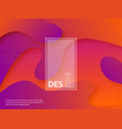 liquid abstract purple and orange background vector image