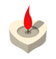 love candle icon love and gifts for web on white vector image