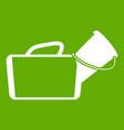 medical bag icon green vector image vector image