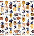 modern seamless pattern with pineapples of various vector image vector image