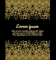 moroccan card design gold and black vector image