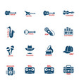 musical genre web icons vector image vector image