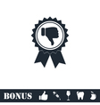 Not recommended award icon flat vector image vector image