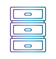 ofice drawers icon vector image vector image
