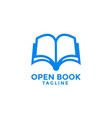 open book logo icon design template vector image vector image