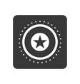 quality control icon with star sign vector image