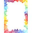 rainbow flower background watercolor vector image