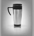 realistic 3d model of thermos cup vector image vector image
