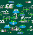renewable ecology energy icons green city power vector image vector image
