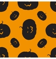 Seamless pattern with Halloween pumpkin vector image vector image