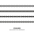 set of black isolated of chains vector image vector image