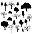 set of different trees vector image vector image