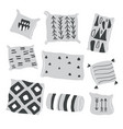 set of scandinavian stylish modern pillows vector image vector image