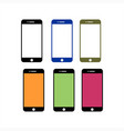 set phone full color icon vector image