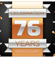Seventy six years anniversary celebration golden vector image vector image