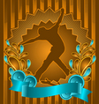 Skateboarder vintage design vector | Price: 1 Credit (USD $1)