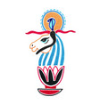 sketch marker drawing of egyptian animal god vector image vector image