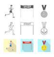 sport and winner symbol vector image vector image
