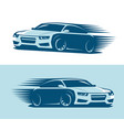 sports car in motion logo abstract art vector image vector image