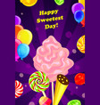 sweetest day concept background cartoon style vector image vector image