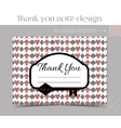 Thank you Note - Key from Wonderland vector image vector image