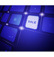 The button sale on a virtual keyboard vector image vector image