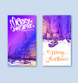 trendy cover template winter city new york usa vector image vector image