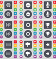 Web cursor Minus Microphone Number Gear Cup vector image vector image
