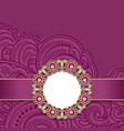 wedding card with gold jewelry decoration vector image vector image