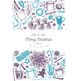 winter drinks design template hand drawn engraved vector image vector image