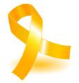 yellow awareness ribbon and shadow vector image