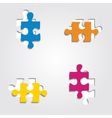 Background with puzzle pieces vector image