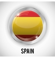 Isolated spain button design vector image