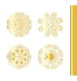 Geometric gold circular ornament set vector image