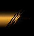 abstract gold black cyber hexagon mesh vector image vector image