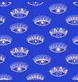 aztec evil eyes seamless pattern salmon color vector image vector image