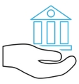 Bank Service Outline Icon vector image