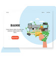 bank website landing page design template vector image vector image