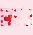 banner with hearts vector image vector image