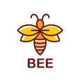 bee icon - bee logo design inspiration vector image
